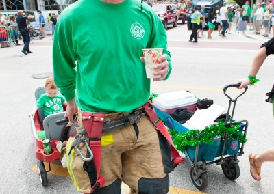 fire fighter and kid