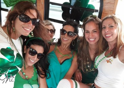 on the party bus