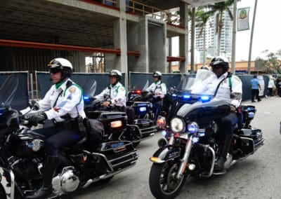 police on motocycles
